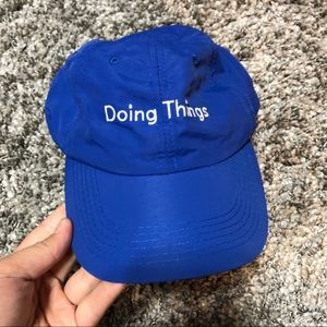 OUTDOOR VOICES Doing Things Blue Nylon Hat